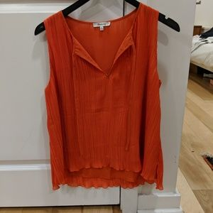 Madewell Pleated Top NWOT